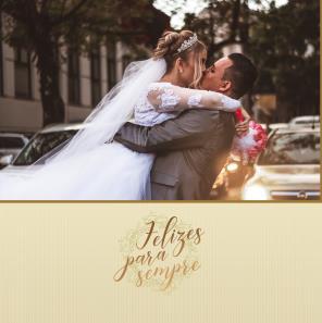 Casamento Branco e dourado