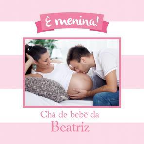 Chá de bebê rosa